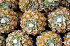 Modèle de pile d'ananas Photos libres de droits