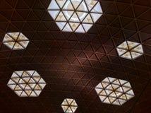 Modèle de plafond de triangle Images libres de droits