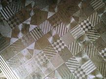 Modèle de plaque métallique argenté Photos stock