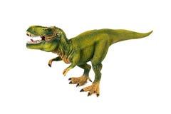 Modèle de plastique de dinosaure de tyrannosaure Photos libres de droits