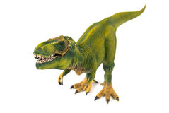 Modèle de plastique de dinosaure de tyrannosaure Photographie stock libre de droits