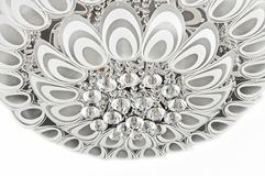 Modèle de plume de paon de l'éclairage en cristal moderne de plafond Photos libres de droits