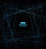 Modèle de point composé de maille, sens technologique des graphiques abstraits illustration de vecteur