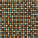 modèle de point de polka Rétro fond de cercle sans couture de vecteur Images stock