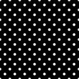 Modèle de point noir sans couture de polka sur le noir Illustration de vecteur Images libres de droits