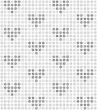 Modèle de point de polka avec des coeurs Vecteur sans joint Photographie stock libre de droits