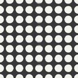 Modèle de point sans couture géométrique tiré par la main de polka d'encre Papier d'emballage Fond abstrait de vecteur Courses ro Image libre de droits