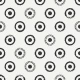 Modèle de point sans couture géométrique tiré par la main de polka d'encre Papier d'emballage Fond abstrait de vecteur Courses ro Images stock