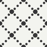 Modèle de point sans couture géométrique tiré par la main de polka d'encre Papier d'emballage Fond abstrait de vecteur Courses ro Images libres de droits