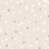 Modèle de points beige sans couture d'encre Fond de grunge de vecteur Illustration de vecteur Images stock