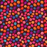 Modèle de points coloré de polka d'aquarelle Images libres de droits