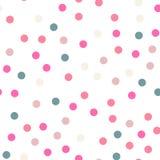 Modèle de points coloré de polka sur le fond blanc illustration libre de droits