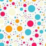 Modèle de points coloré de polka sur le fond blanc illustration de vecteur