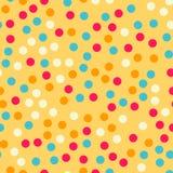 Modèle de points coloré de polka sur le fond lumineux illustration stock