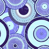Modèle de points sans couture de cercle d'automne japonais Image stock
