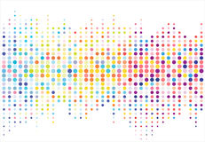 Modèle de points tramé coloré abstrait de texture Vecteur Photo stock
