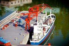 Modèle de port maritime Image libre de droits