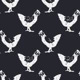 Modèle de poulet de Bnw illustration de vecteur