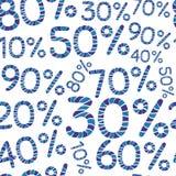 Modèle de pour cent de Seamples Prix discount et calibre de conception de ventes Image libre de droits