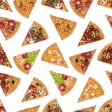 Modèle de préparation de pizzas illustration stock