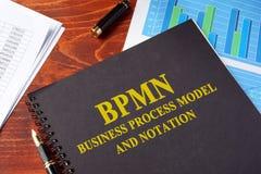 Modèle de processus et notation d'affaires de BPMN photo stock
