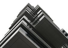 Modèle de réflexion d'un bâtiment moderne image stock