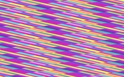Modèle de répétition coloré abstrait des rayures diagonales dans pourpre, bleu, jaune et orange Photo libre de droits