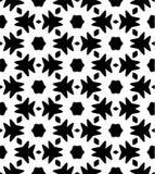 Modèle de répétition noire et blanche et image sans couture de vecteur Photo stock