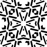 Modèle de répétition noire et blanche et image sans couture de vecteur Photo libre de droits