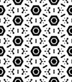 Modèle de répétition noire et blanche et image sans couture de vecteur Image libre de droits