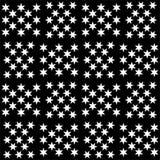 Modèle de répétition noire et blanche et image sans couture de vecteur Images libres de droits