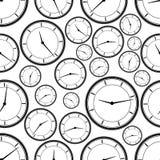 Modèle de répétition sans couture d'horloge abstraite Vecteur Image stock