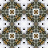 Modèle de répétition sans couture de fond de guirlande neigeuse de pin d'hiver Image libre de droits