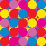 Modèle de répétition sans couture des cercles et de tout autre shap géométrique Photographie stock
