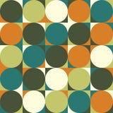 Modèle de répétition sans couture des cercles et de tout autre shap géométrique Images stock