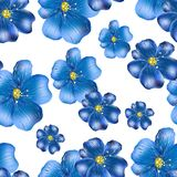 Modèle de répétition sans couture des wildflowers Photo stock