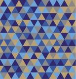 Modèle de répétition sans couture de fond de rétro triangle géométrique Mosaïque de diverses nuances illustration stock