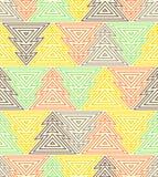 Modèle de répétition sans couture géométrique L'arbre de Noël, décrivent le style linéaire Images libres de droits