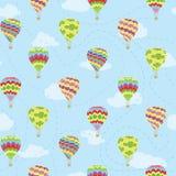 Modèle de répétition de vecteur de voyage des ballons à air chauds illustration libre de droits
