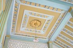 Modèle de raisin sur la Chambre de plafond Image stock