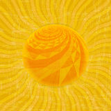 Modèle de rayon de soleil de Sun Illustration de vecteur Photographie stock libre de droits