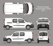 Modèle de Renault Kangoo Express Maxi Combi Van 2013 Image stock