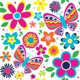 Modèle de ressort avec les papillons mignons Image stock