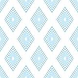 Modèle de rhombu simple bleu Photo stock