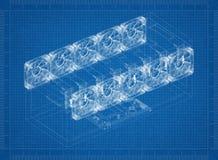 Modèle de Rig Architect d'exploitation illustration de vecteur