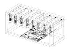 Modèle de Rig Architect d'exploitation illustration stock