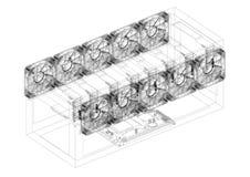 Modèle de Rig Architect d'exploitation - d'isolement illustration stock