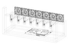 Modèle de Rig Architect d'exploitation - d'isolement illustration de vecteur