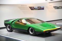 Modèle de Romeo Carabo d'alpha sur l'affichage au musée historique Alfa Romeo photo libre de droits