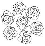 Modèle de roses Image libre de droits